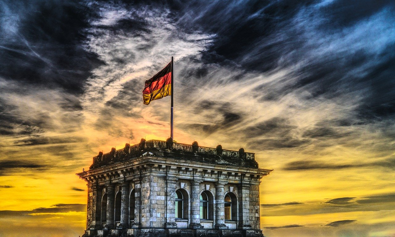 bundestag, german flag, reichstag