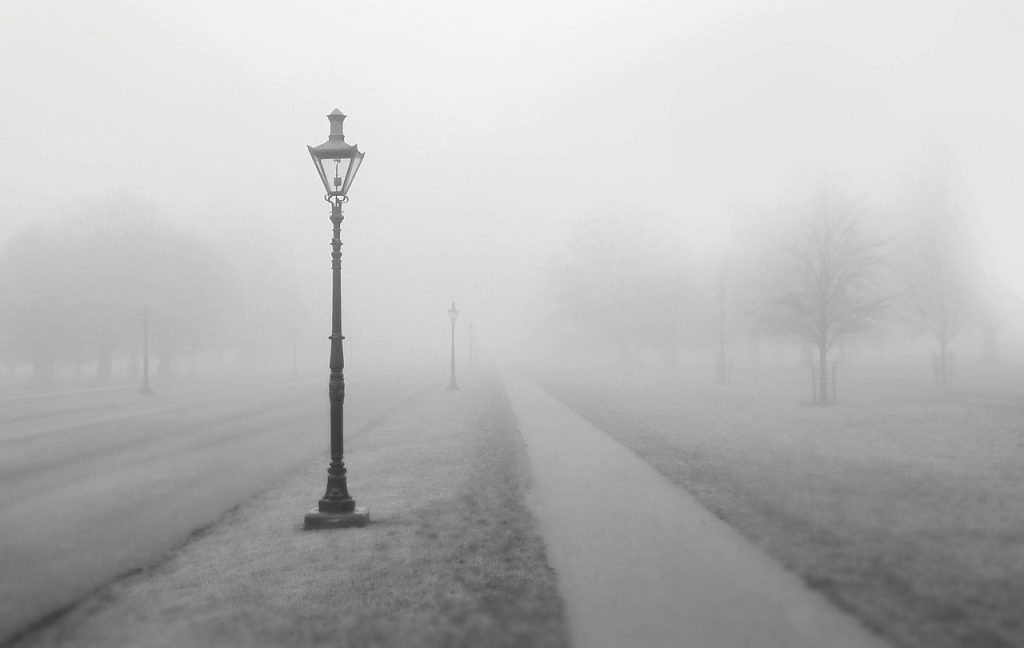 way, path, lanterns
